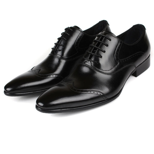 Mens Black Brogue Shoes Sale Online | Fashion Black Oxford Dress Shoes | Stylish Leather Shoes ...