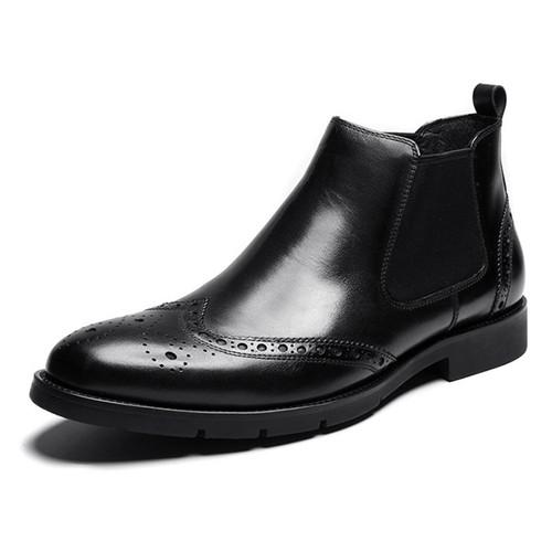 Black chelsea boots mens