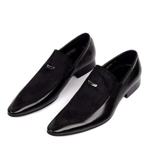 Dark Gray Patent Leather Shoes