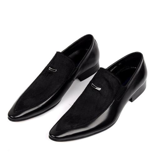 Ferragamo Mens Black Dress Shoes