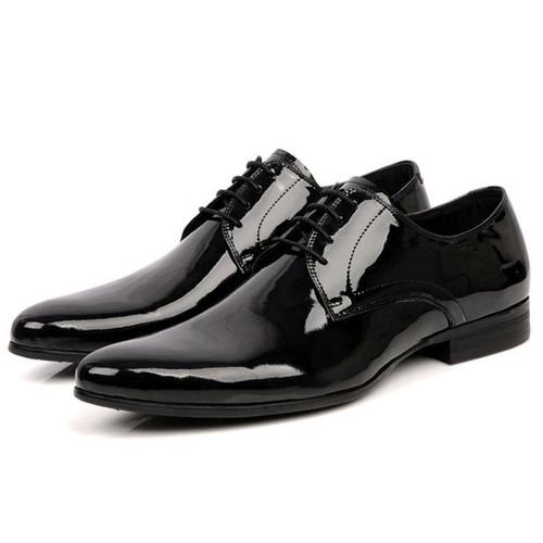 patent leather shoes men black mens business shoes sale