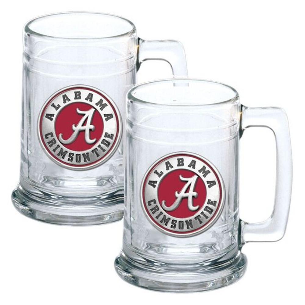 Alabama Crimson Tide Beer Mug Set of Two   Heritage Pewter   ST10308ER