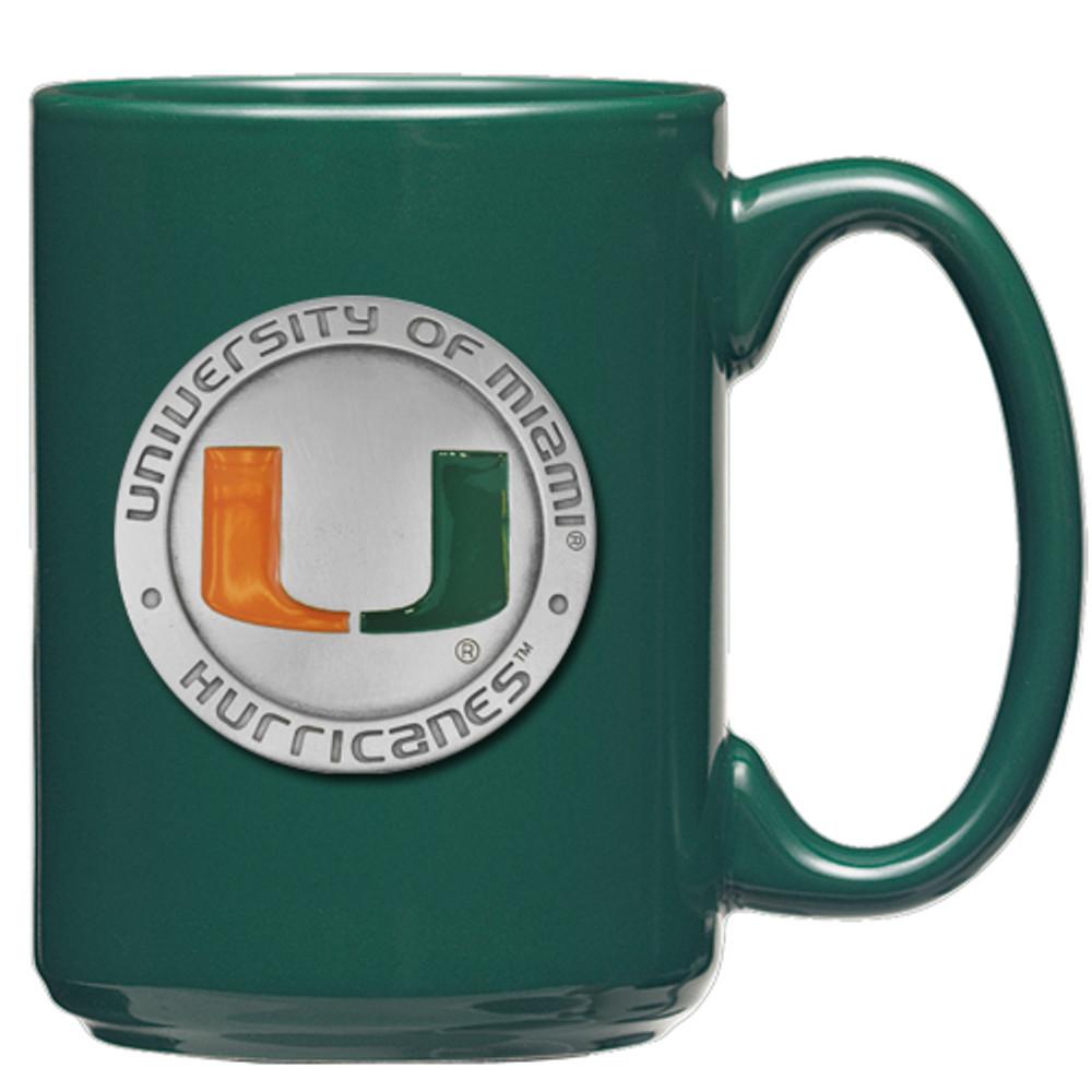 Miami Hurricanes Coffee Mug Set of 2 | Heritage Pewter | CM10185E