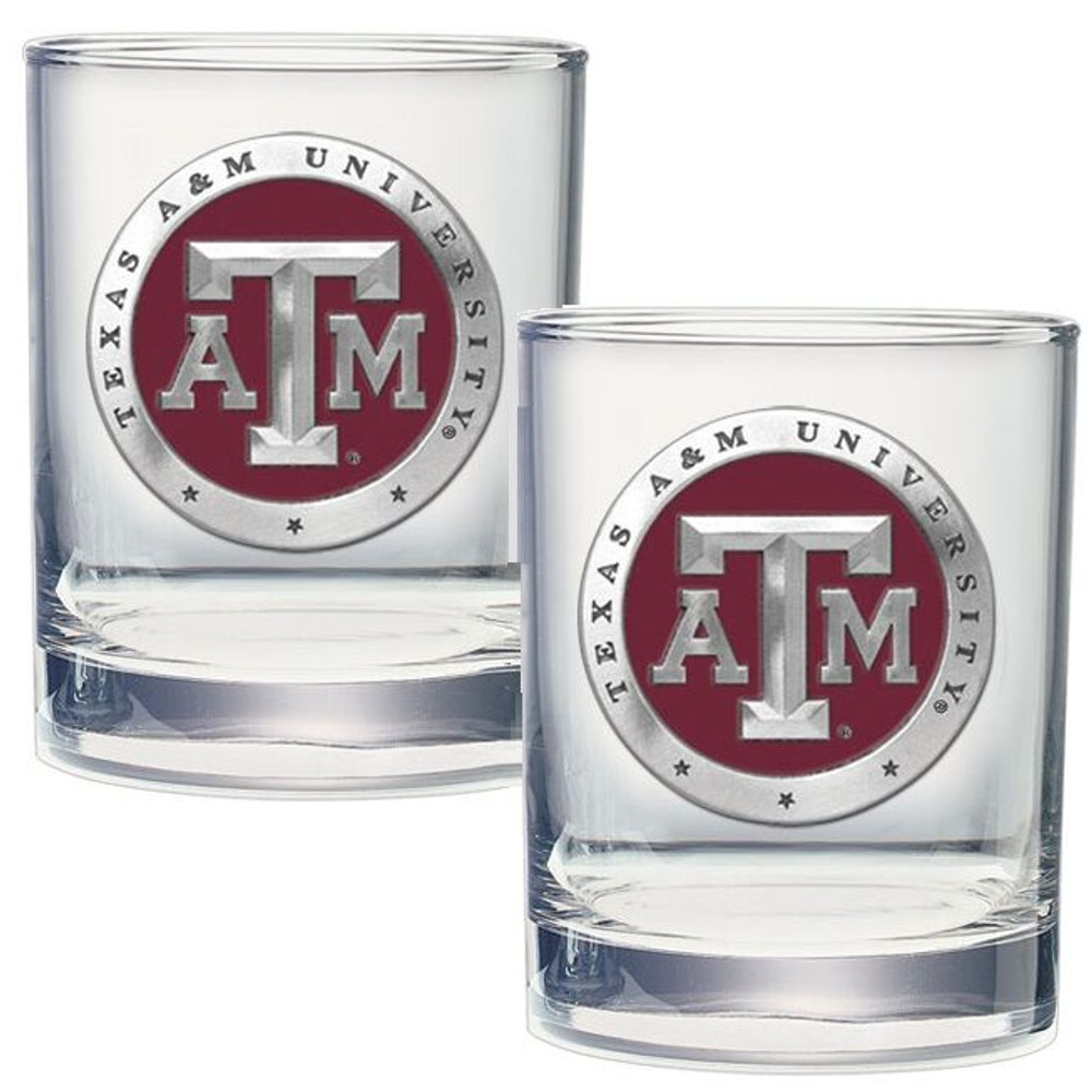 Texas A&M Aggies Cocktail Glasses | Heritage Pewter | DOF10126ER