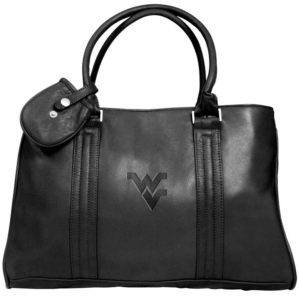 West Virginia Mountaineers Leather Laptop Briefcase | Canyon Outback | B102WVM