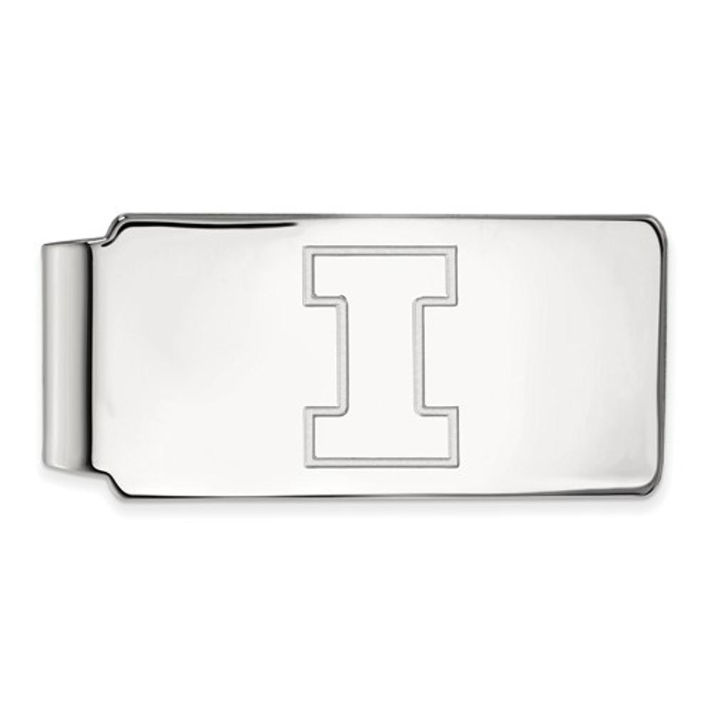 Illinois Fighting Illini I Logo Sterling Silver Money Clip | Logo Art | SS025UIL