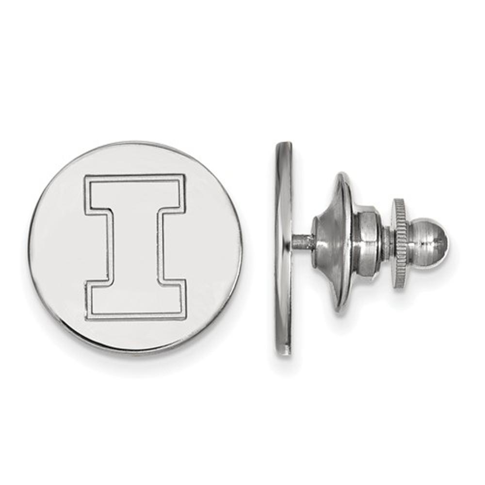 Illinois Fighting Illini Sterling Silver Lapel Pin | Logo Art | SS011UIL
