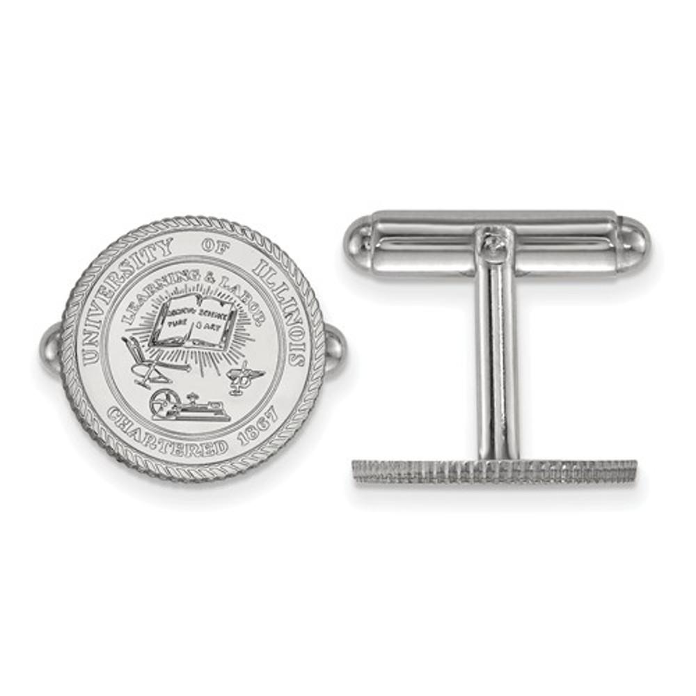 Illinois Fighting Illini Crest Sterling Silver Cufflinks | Logo Art | SS067UIL