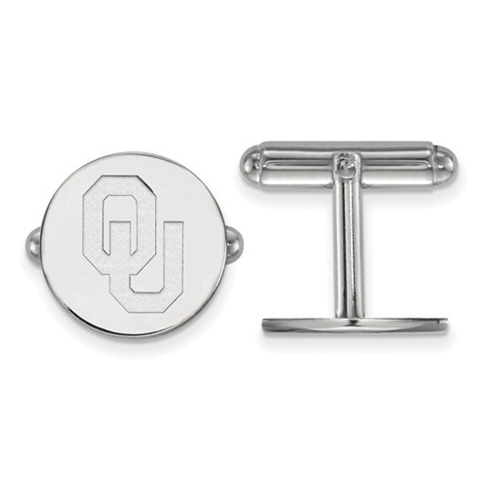 Oklahoma Sooners Sterling Silver Cufflinks | Logo Art | SS011UOK