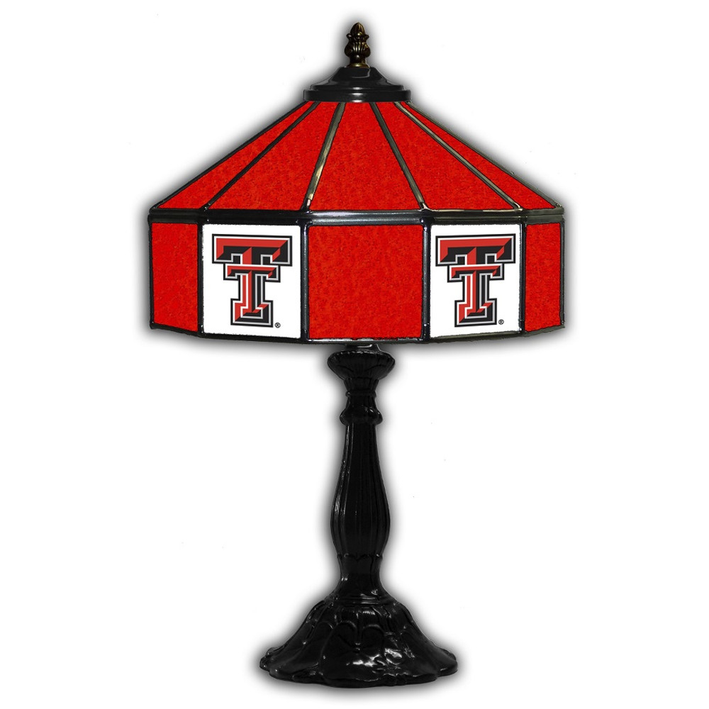 Texas tech red raiders 21 in glass table lamp aloadofball Images