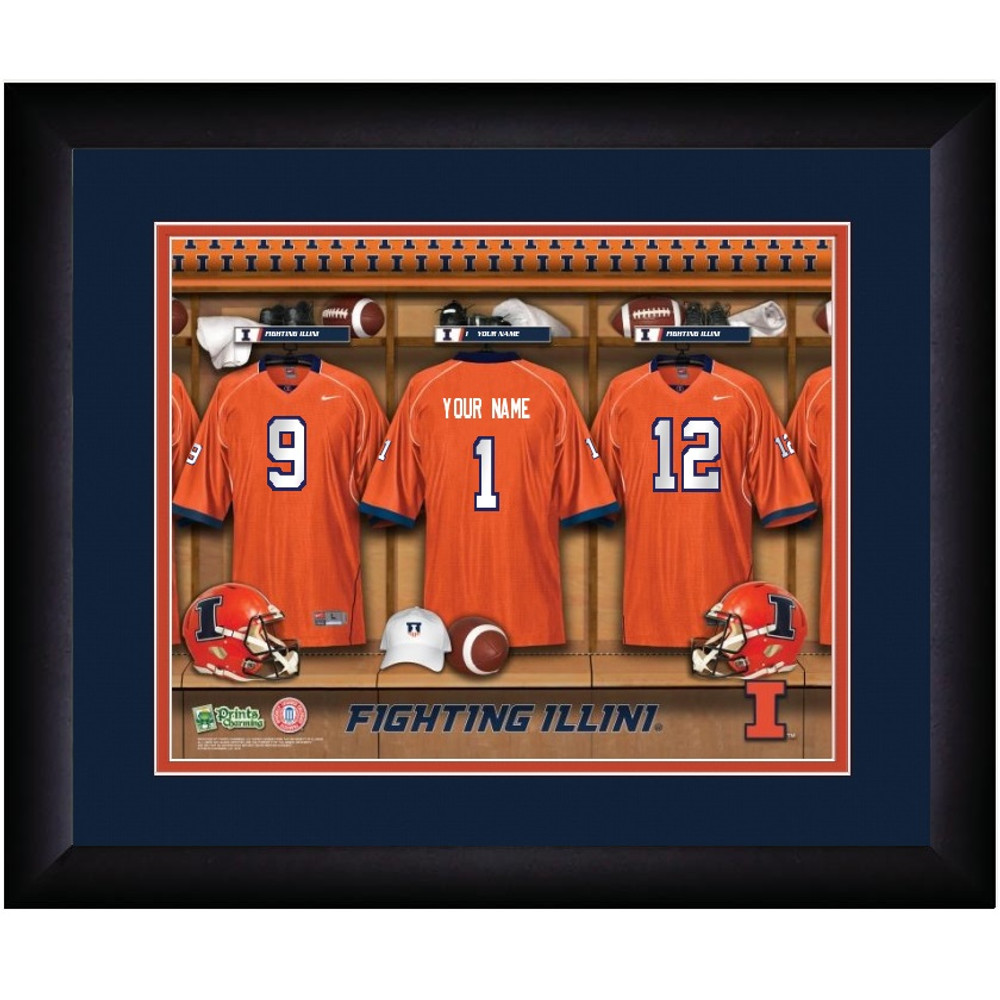 Illinois Fighting Illini Personalized Locker Room Print | Get Letter Art | ILLLOCKER