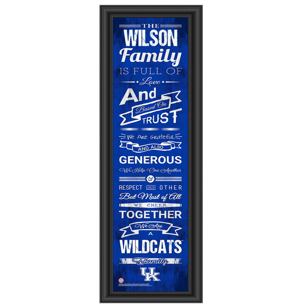 Kentucky Wildcats Campus Personalized Family Cheer Print | Get Letter Art | KENTFAM