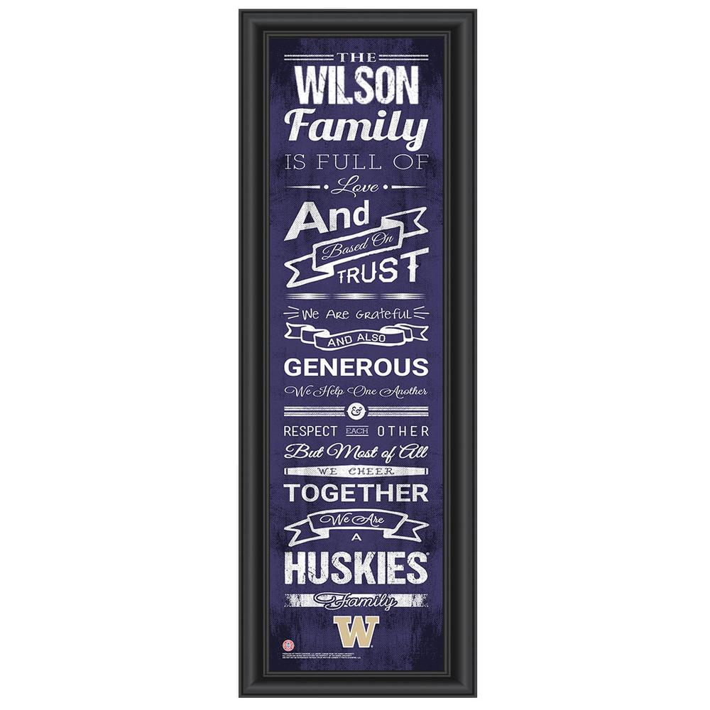 Washington Huskies Personalized Family Cheer Print   Get Letter Art   WASHFAM