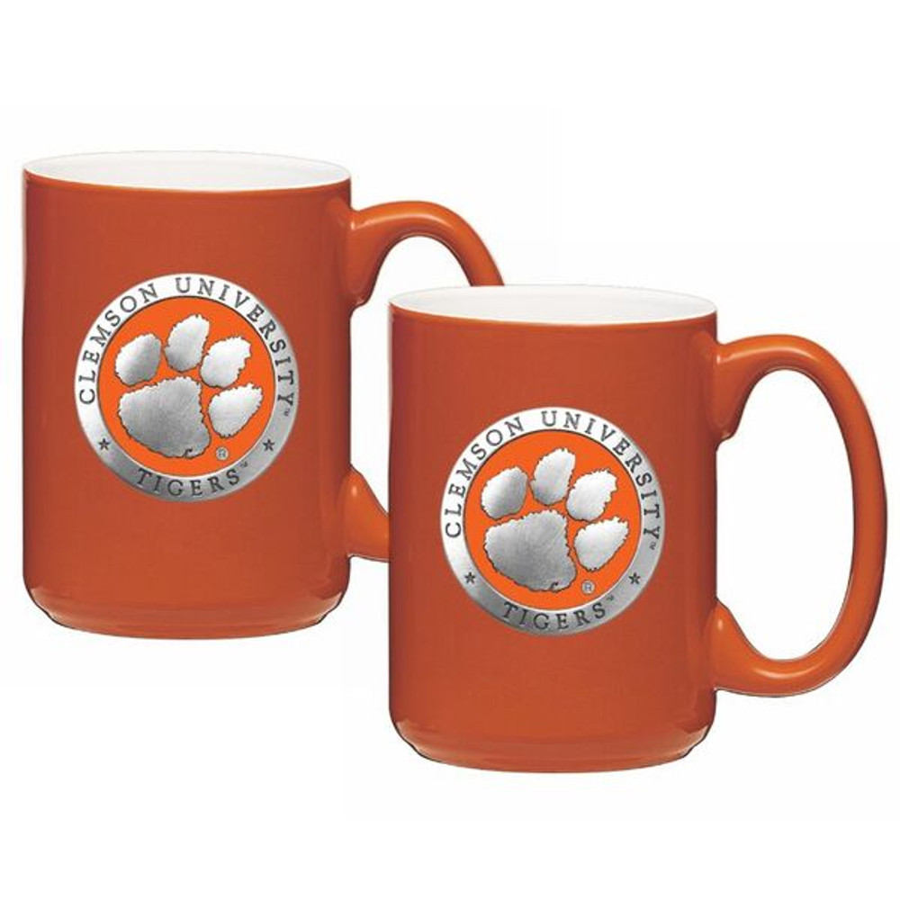 Clemson Tigers Coffee Mug Set of 2 | Heritage Pewter | CM10160EONG