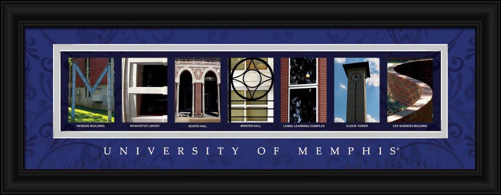Memphis Tigers Letter Art | Get Letter Art | CLAL1B18MEPH