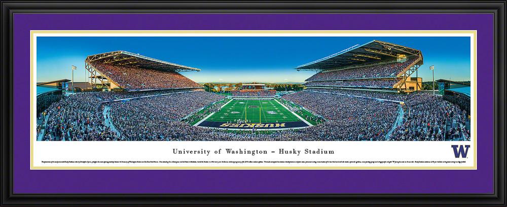 Washington Huskies Panoramic Photo Deluxe Matted Frame - End Zone | Blakeway | UWA4D