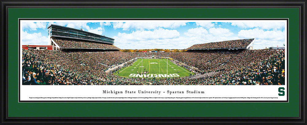 Michigan State Spartans Panoramic Photo Deluxe Matted Frame - End Zone