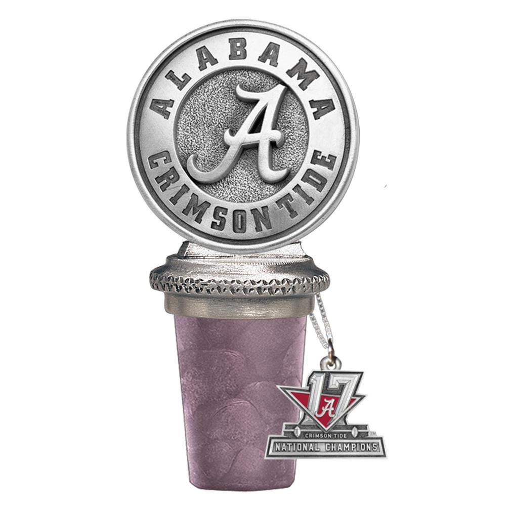 2017 National Champions Alabama Crimson Tide Bottle Stopper | Heritage Pewter | BS10308