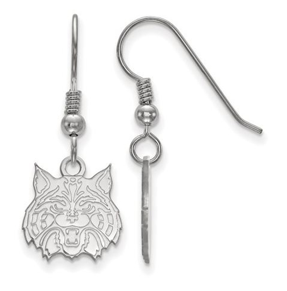 University Of Arizona Sterling Silver Small Dangle Earrings Logo Art Ss029uaz
