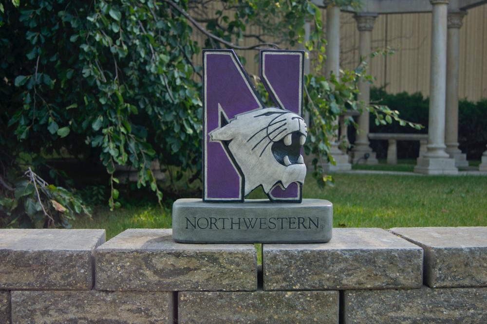 Northwestern Wildcats Mascot Garden Statue | Stonecasters | 2995HT-2
