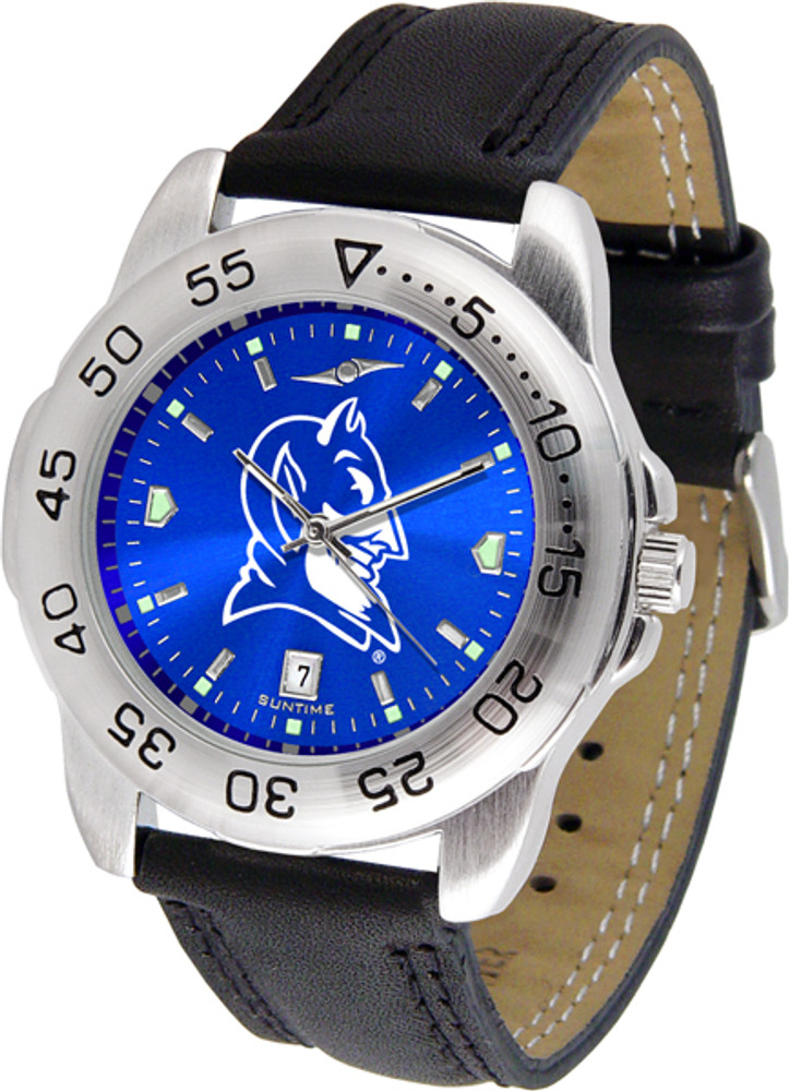 Duke Blue Devils Men's Sport Leather AnoChrome Watch | SunTime | ST-CO3-DBD-SPORT2-A