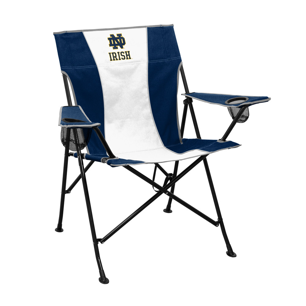 Notre Dame Fighting Irish Navy/White Pregame Chair