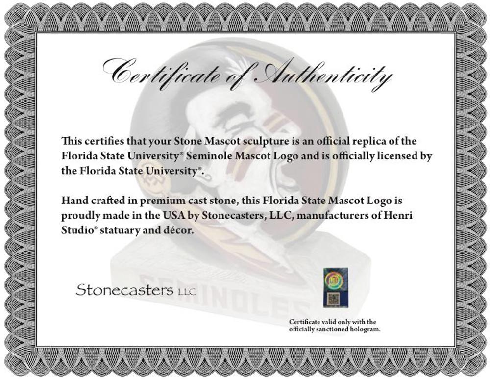 Florida State Seminoles Mascot Garden Statue