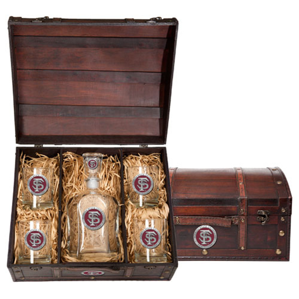FSU Seminoles Capitol Decanter Chest Set | Heritage Pewter | CPTC10265ER