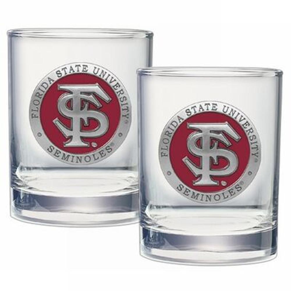 FSU Seminoles Cocktail Glasses | Heritage Pewter | DOF10265ER