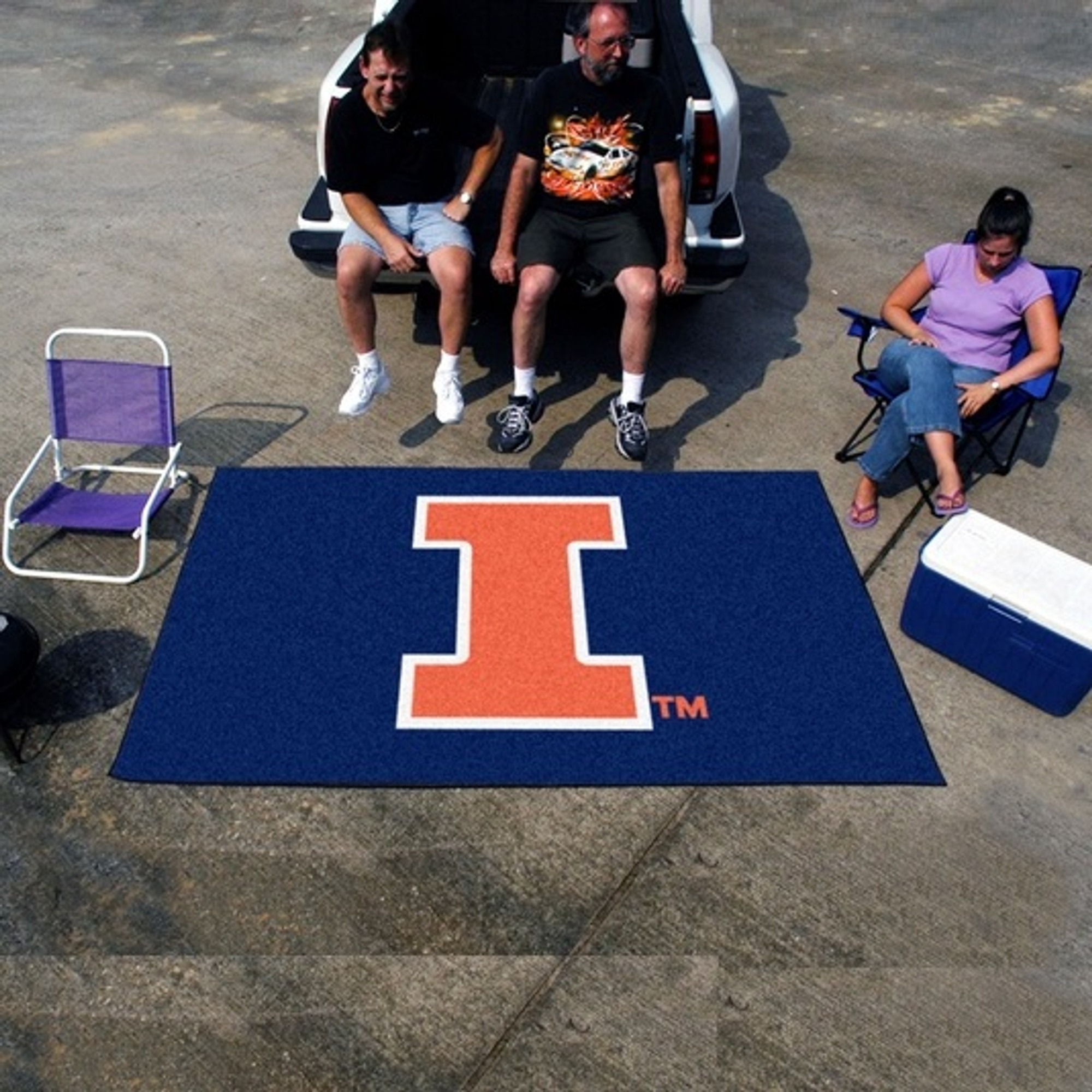 Illinois Fighting Illini Tailgate Mat Rug