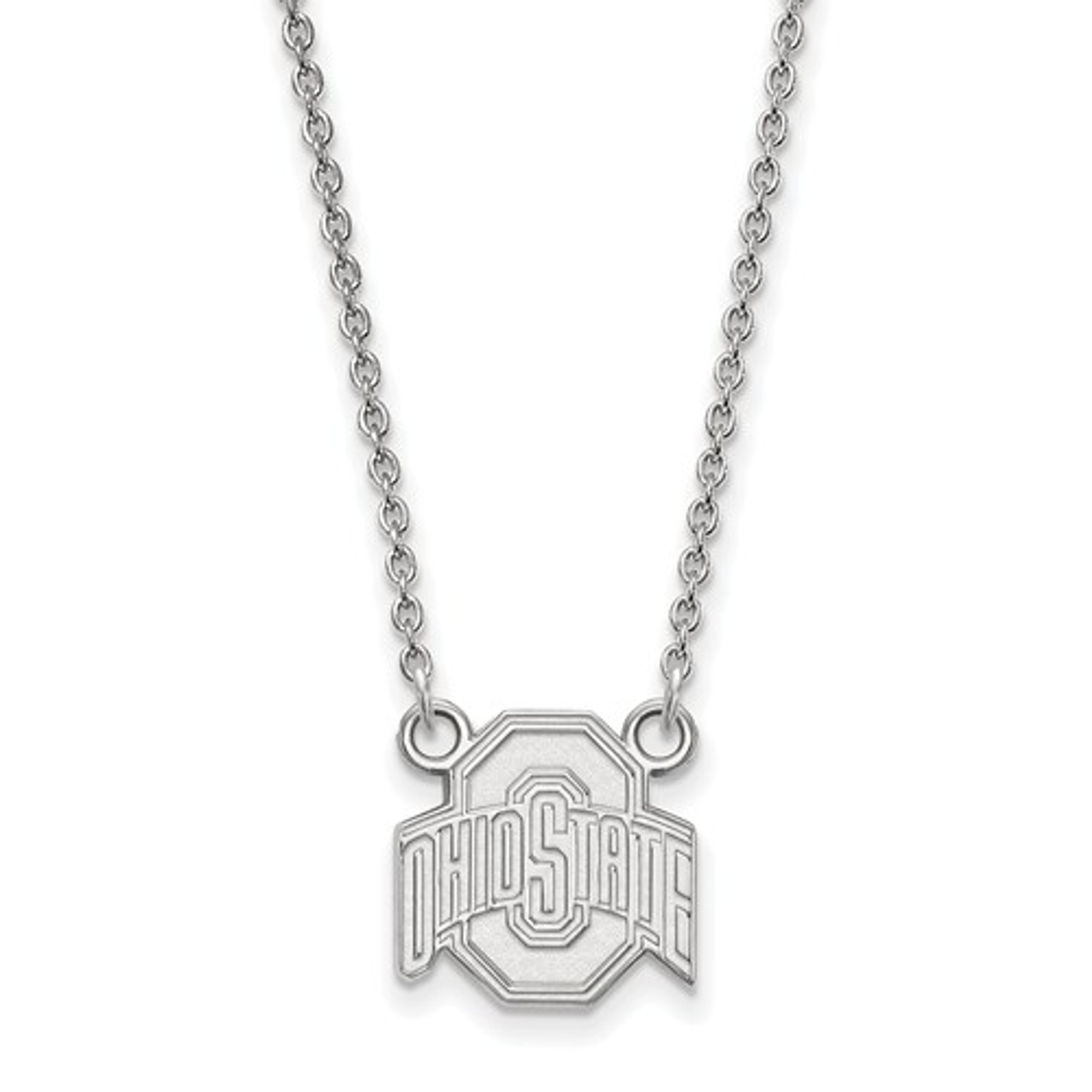 Ohio state buckeyes sterling silver pendant necklace ohio state buckeyes sterling silver pendant necklace logo art ss015osu 18 aloadofball Image collections