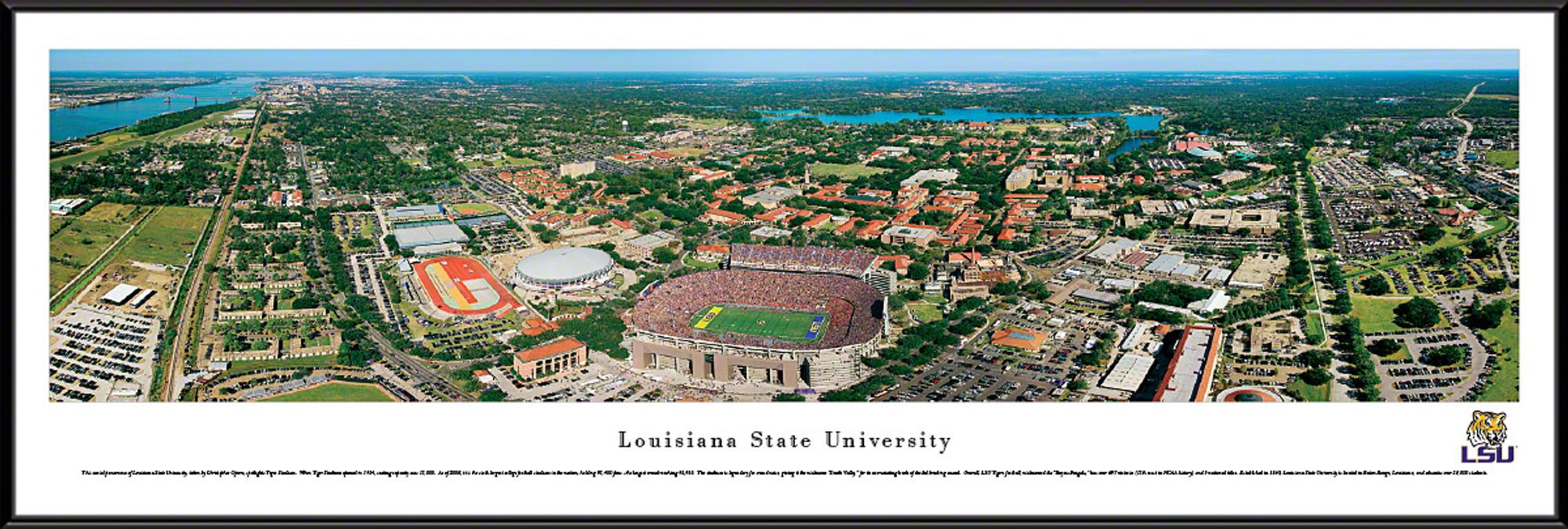 LSU Tigers Standard Frame Panoramic Photo - Aerial View