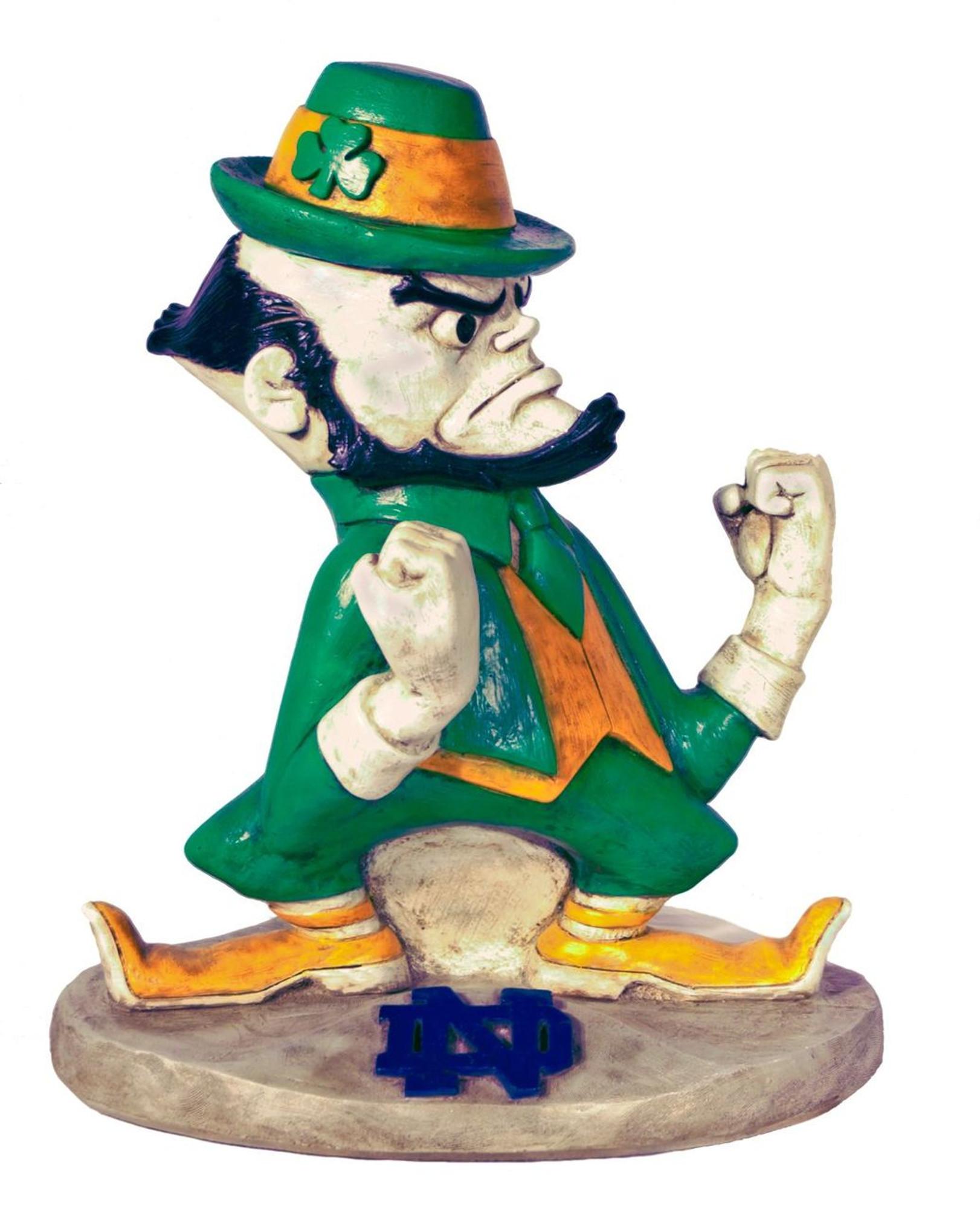 Notre Dame Fighting Irish Mascot Garden Statue | Stonecasters | 2787HT ...