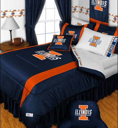 Illinois Fighting Illini Comforter | Sports Coverage | 04JSCOM4ILU