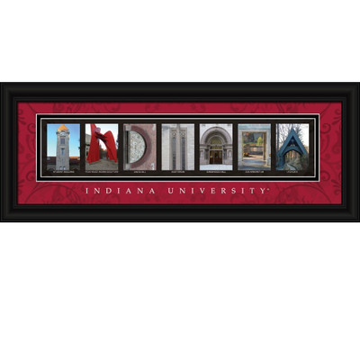 Indiana Hoosiers Campus Letter Art Print