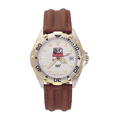 Alabama Crimson Tide Men's All Star Leather Watch
