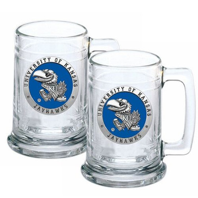 Kansas Jayhawks Beer Mug Set of Two