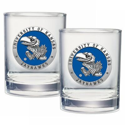 Kansas Jayhawks Cocktail Glasses