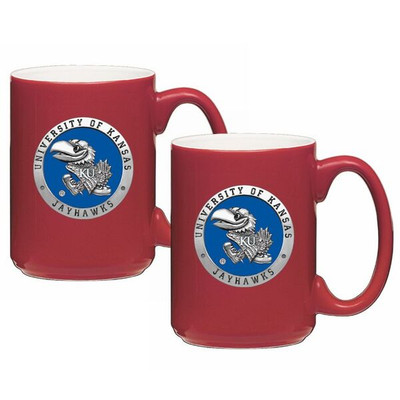 Kansas Jayhawks Coffee Mug Set of 2