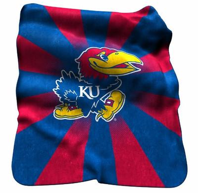 Kansas Jayhawks Raschel Throw Blanket