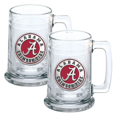 Alabama Crimson Tide Beer Mug Set of Two