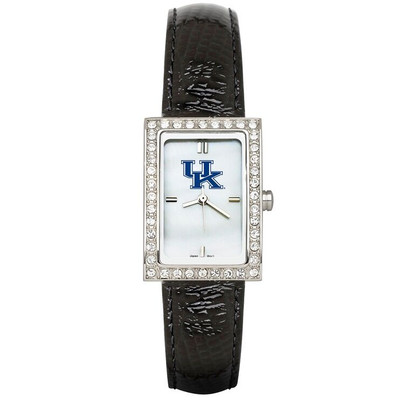 Kentucky Wildcats Women's Allure Black Leather Strap Watch
