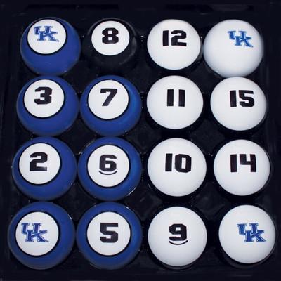 Kentucky Wildcats Billiard Pool Ball Set