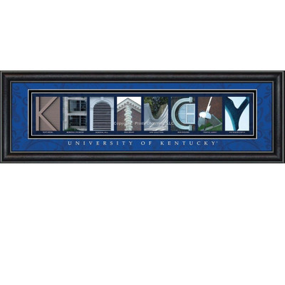 Kentucky Wildcats Campus Campus Letter Art Print