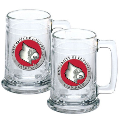 Louisville Cardinals Beer Mug Set of Two | Heritage Pewter | ST10186ER