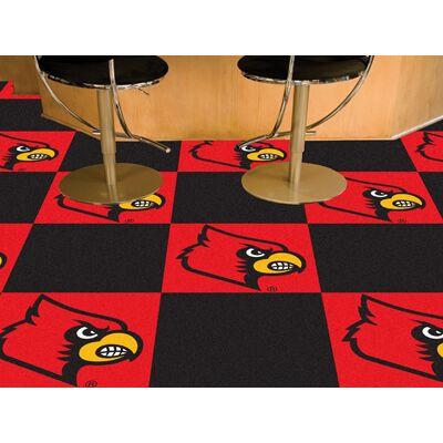 Louisville Cardinals Carpet Tiles
