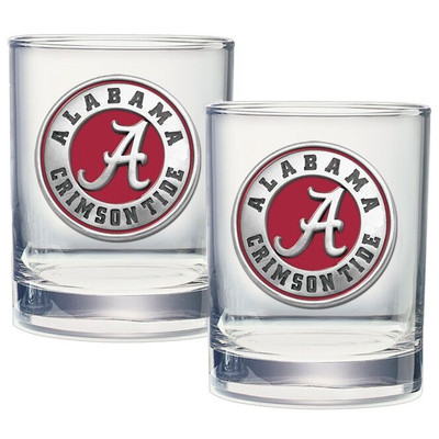 Alabama Crimson Tide Cocktail Glasses