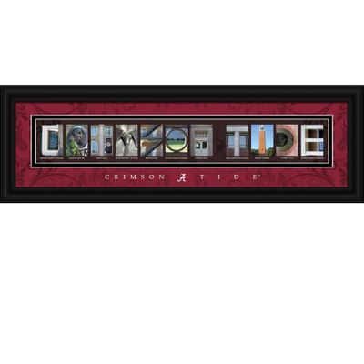 Alabama Crimson Tide Campus Letter Art Print