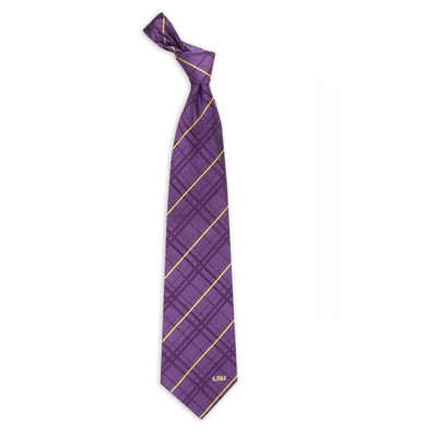 LSU Tigers Oxford Woven Silk Tie
