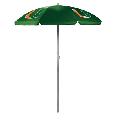 Miami Hurricanes Beach Umbrella